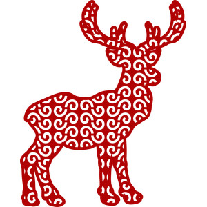 christmas reindeer arabesque