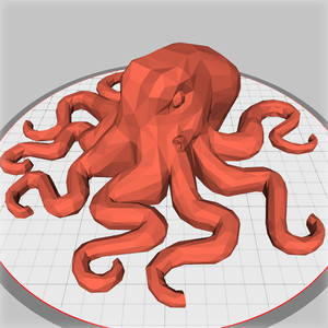 low-poly geometric octopus