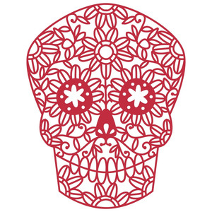 mexican day of the dead sugar skull papercut