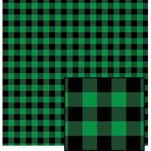 green buffalo plaid pattern