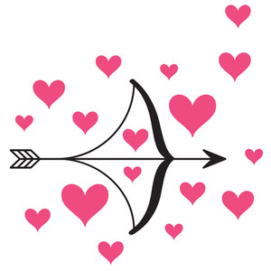 heart bow and arrow