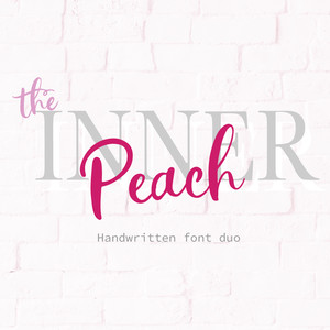 the inner peach font duo