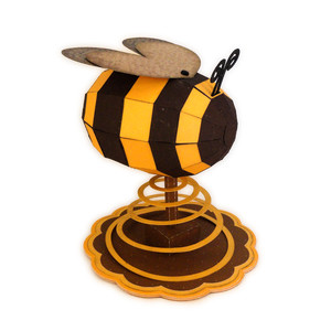bee 3d form spiral base