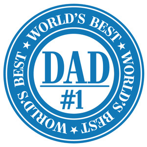 world's best dad label