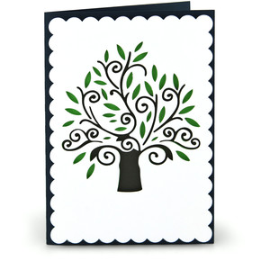 pop dot tree card