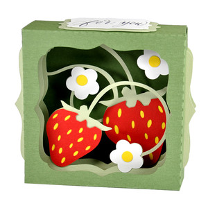 strawberry gift card box