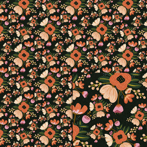 fall flowers background paper