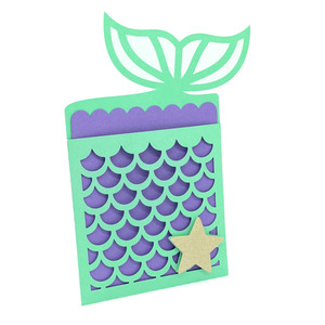 mermaid tail scales card