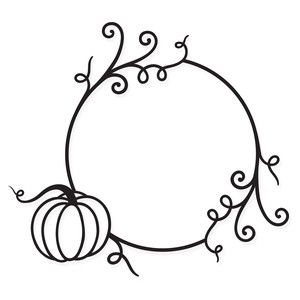 autumn monogram frame
