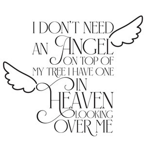 i don't need an angel quote