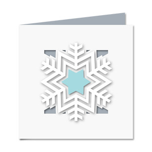 snowflake cutout card