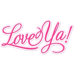 'love ya' word art
