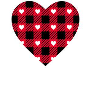 buffalo check hearts