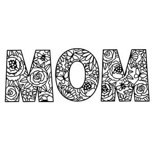 mom floral letters