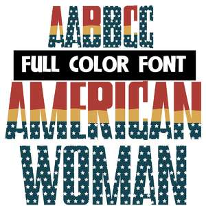 american woman color font