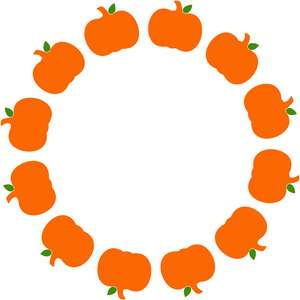 circle pumpkin monogram frame