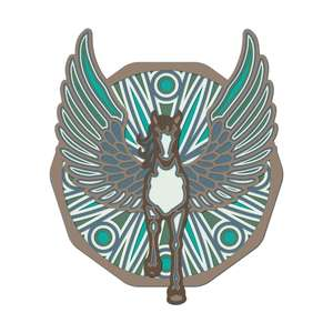 multi layer mandala pegasus flying horse