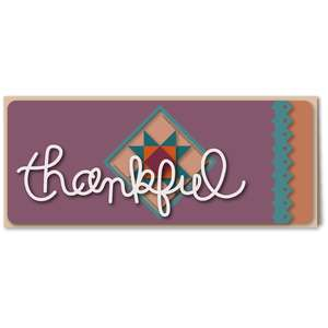 thankful patchwork star long card