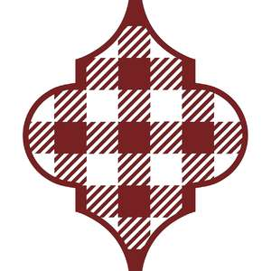 plaid arabesque ornament