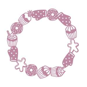baking monogram frame