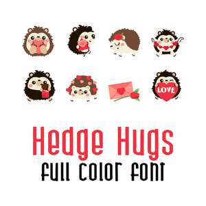 hedge hugs full color font