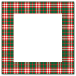 green red plaid frame