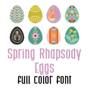 spring rhapsody eggs full color font