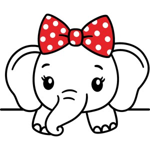 elephant girl with bow