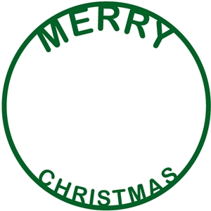 merry christmas word circle frame