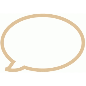 speech bubble outline