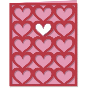 heart lattice card - a2