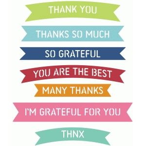 banner words - thank you