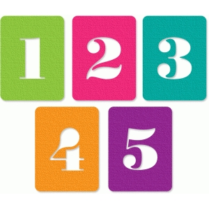 number cards 1-5