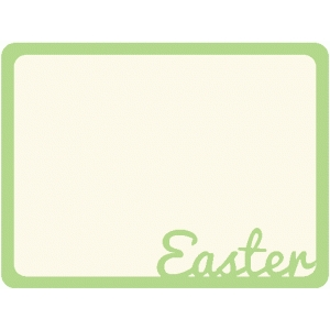 easter journaling card