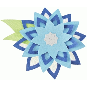 layered star flower