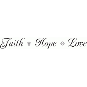 faith hope love vinyl