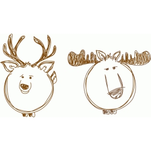 deer and moose sketch