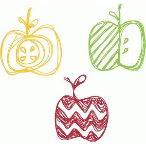 fancy apple sketch set
