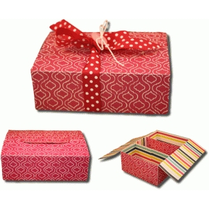3d three-section gift box