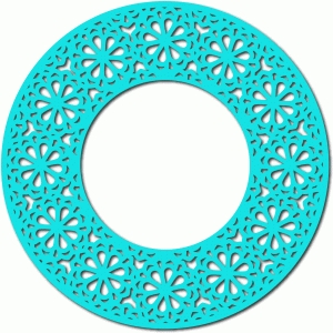 flower lace circle frame