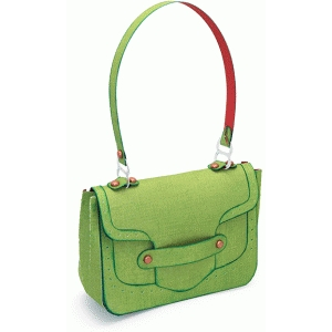 purse with dotted trim