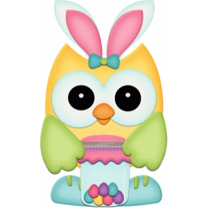 easter owl w bunny ears pnc