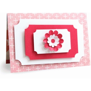 layered floral card - 4x6