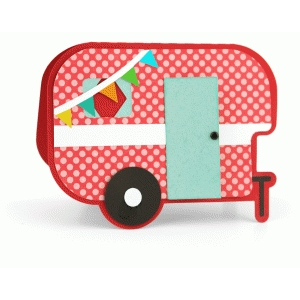 a2 camper shaped card