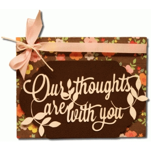 a2 our thoughts are with you card