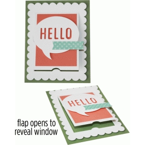 a2 hello scallop flap card