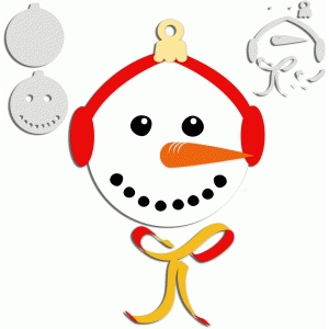 snowman ornament/tag