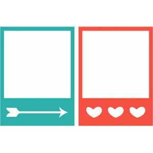 polaroid frames-arrow and hearts