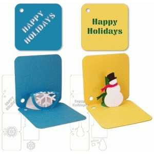holiday pop-up gift tags