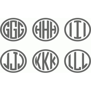 ellipse monogram g-l